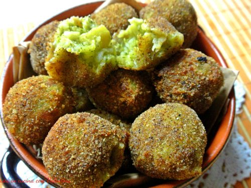 Praline di patate e broccoli