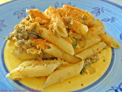 Pasta tonno, carciofi e bottarga