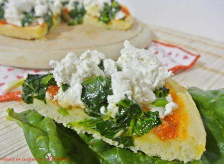 Pizza ricotta e spinaci