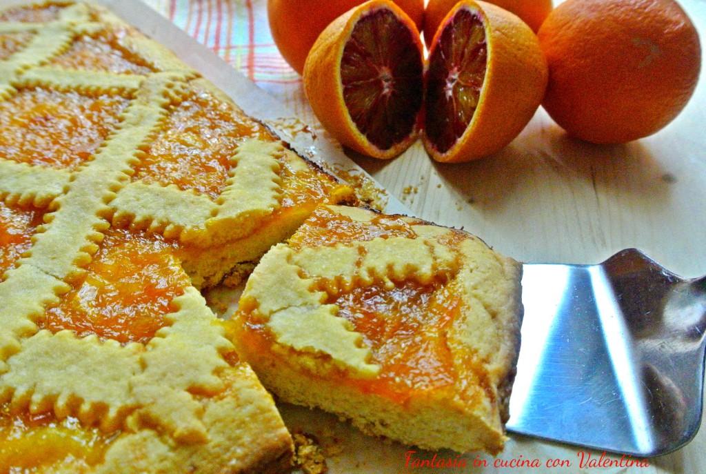 Crostata con marmellata d'arancia