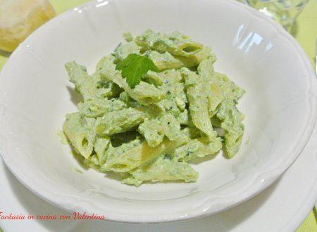 Pasta con crema di ricotta e spinaci