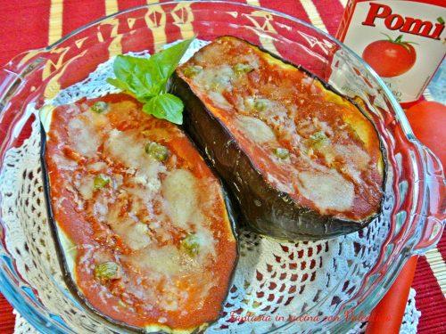 Barchette di melanzane alla pizzaiola