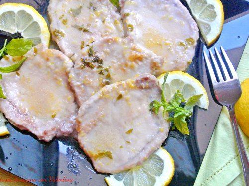 Scaloppine di maiale limone e menta
