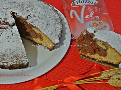 Torta bicolore con yogurt greco alla vaniglia e nutella