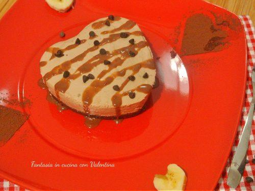 Mini Cheesecake cuore Cioccolato e banana