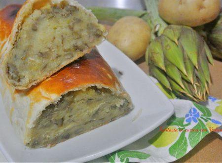 Polpettone patate e carciofi in crosta
