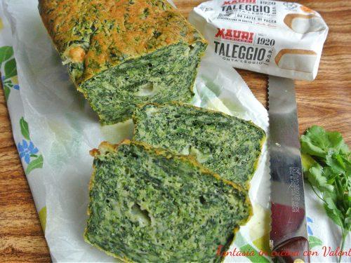 Cake salato spinaci taleggio profumato al limone