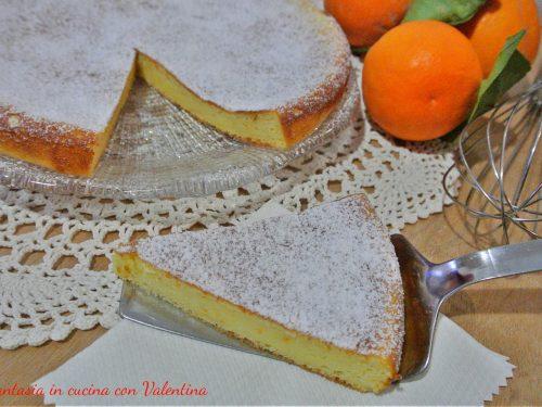 Schiacciata dolce di ricotta al profumo di arancia