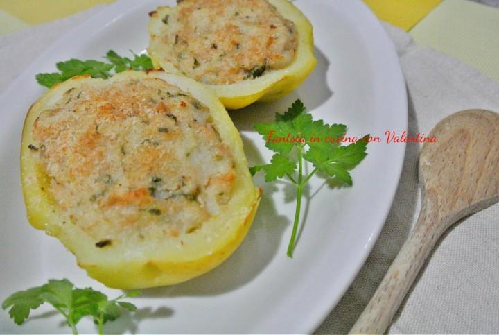 Barchette di patate al tonno