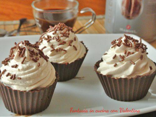 Coppette cioccolato caffè e Baileys