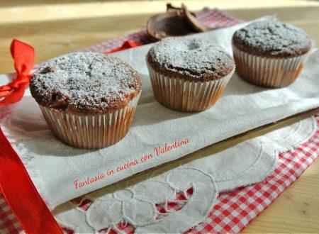 Muffin cioccolato fragole e cocco