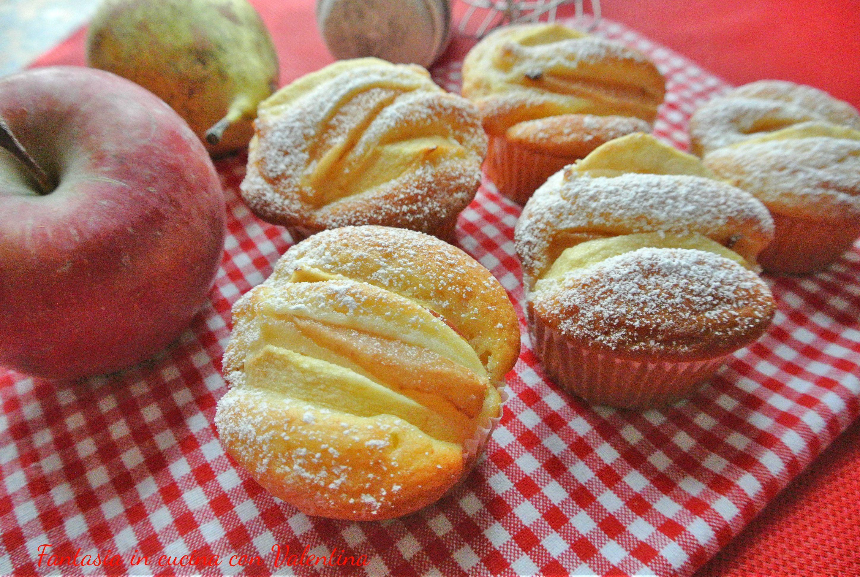 Muffin ricotta mela e pera