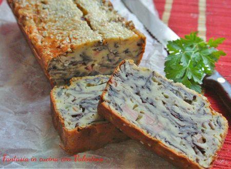 Cake salato radicchio e wurstel