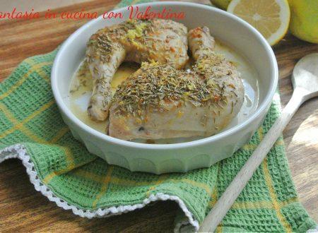 Cosciotti di pollo limone e rosmarino