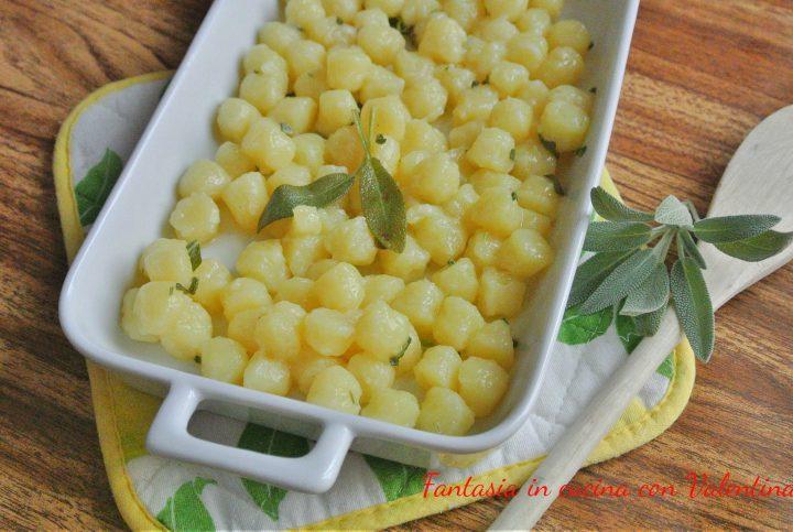 -gnocchi di patate burro e salvia