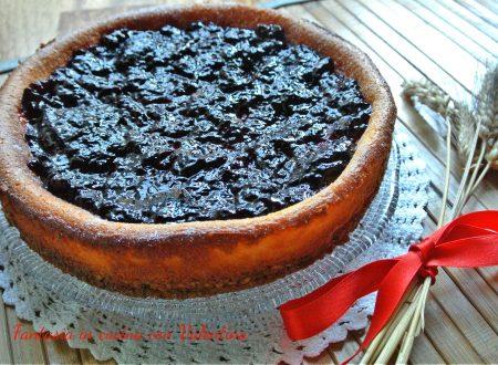 Cheesecake cotta muesli e mirtilli