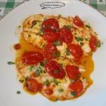 Filetti di rombo e pomodorini ricetta facile fantasie a tavola