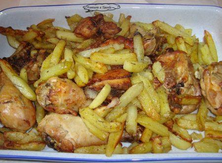 Pollo arrosto con patate