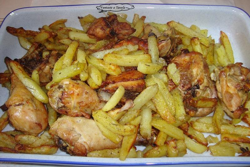 Pollo arrosto con patate ricetta semplice fantasie a tavola