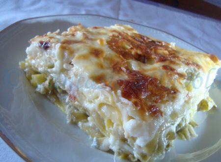 Lasagne carciofi gorgonzola e provola