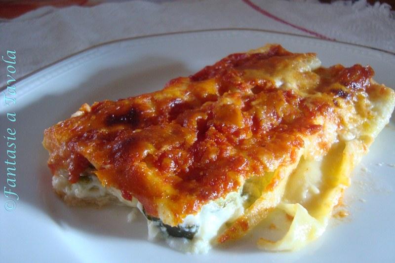 Cannelloni ricotta e zucchine ricetta semplice di Fantasie a Tavola