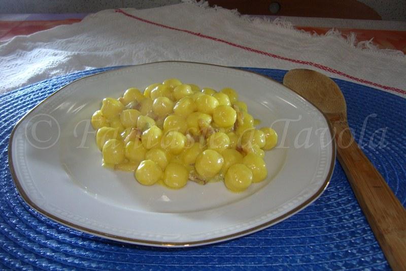 Gnocchetti gorgonzola pancetta e zafferano ricetta semplice di Fantasie a Tavola