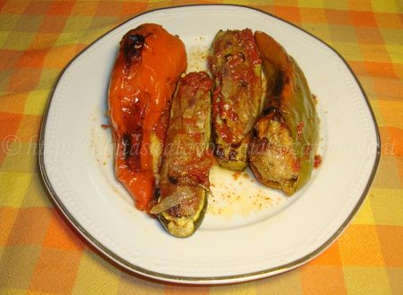 Peperoni e zucchine farciti