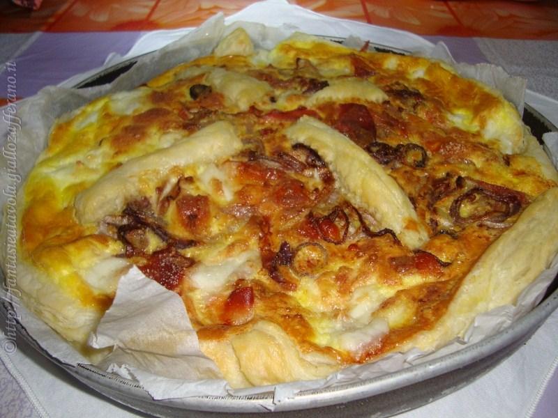 Quiche ricotta cipolla e prosciutto ricetta facile di Fantasie a Tavola