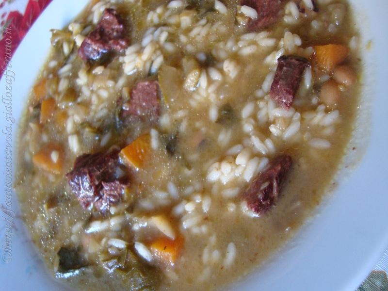 Zuppa rumena ricetta tradizionale di Fantasie a Tavola