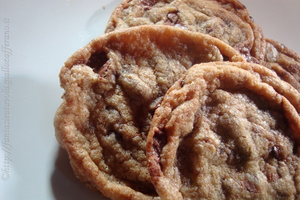 Cookies americani ricetta tipica di Fantasie a Tavola