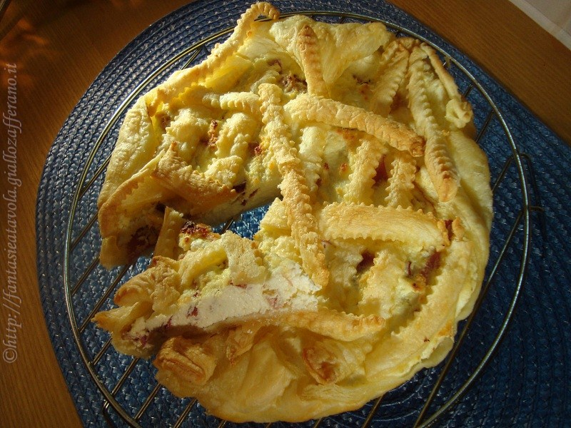 Crostata salata ricetta semplice di Fantasie a Tavola