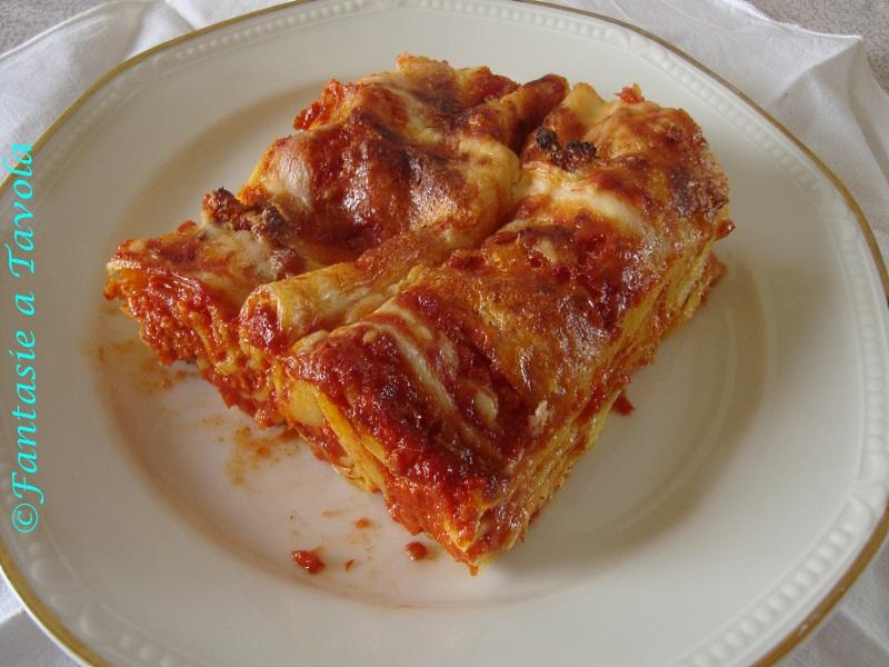 Lasagne al ragù ricetta tradizionale di Fantasie a Tavola
