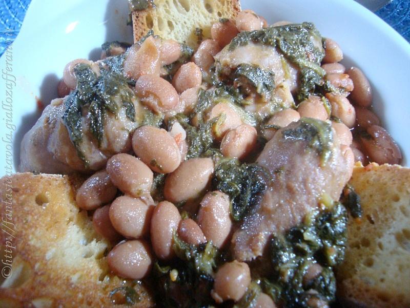 Fagioli e salsicce alla contadina ricetta contadina di Fantasie a Tavola