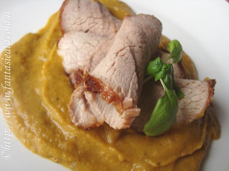 Roastbeef  in crema di carote di Fantasie a Tavola