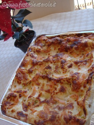 Lasagne salmone e pistacchi di Fantasie a Tavola