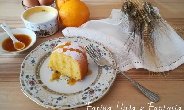 Ciambella soffice con Yogurt e Arancia