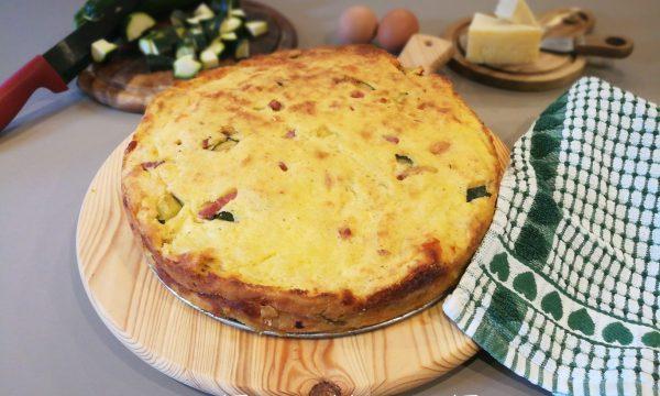 Pasticcio di patate con zucchine, pancetta e provola