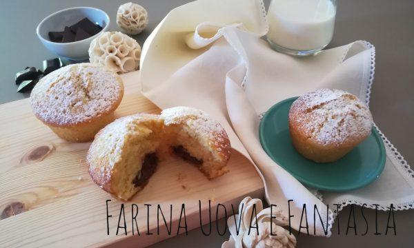 Muffin con scorza d'Arancia e Nutella