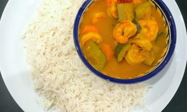 Riso basmati con gamberi al curry