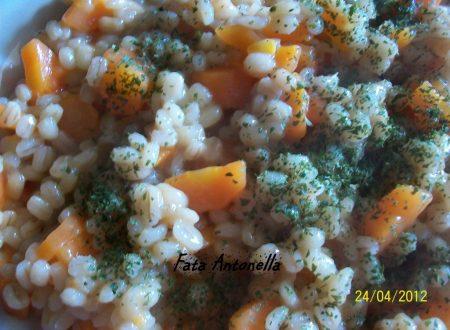 Orzotto alle carote, ricetta personale