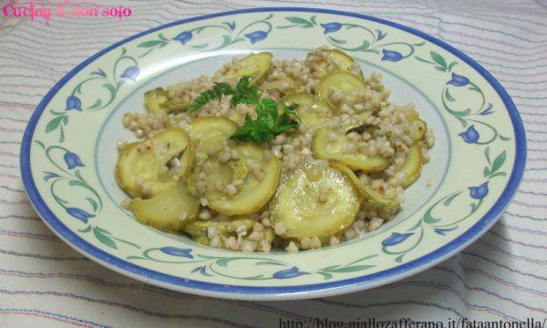 Insalata di grano saraceno con zucchine , ricetta personale