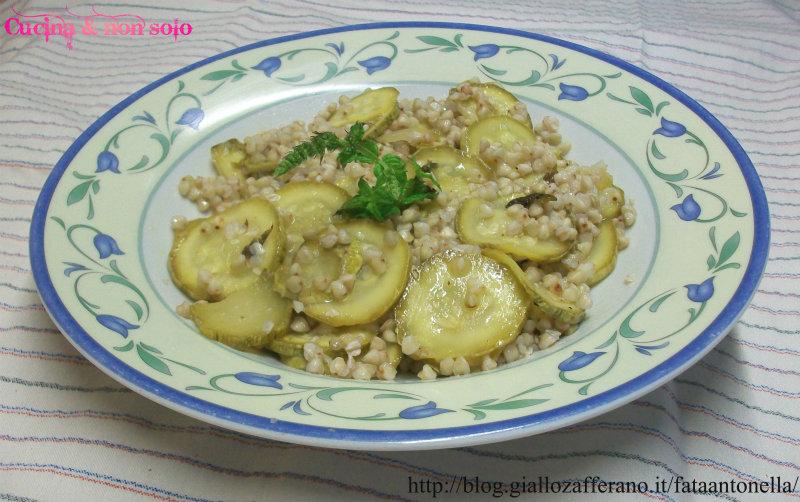 insalata di grano saraceno con zucchine ricetta personale fata antonella