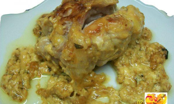 Involtini di pollo allo zafferano