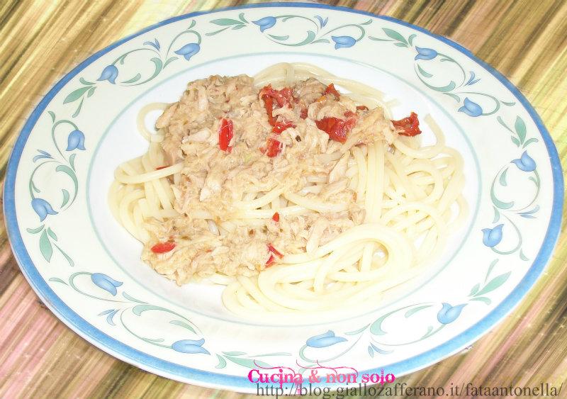 spaghetti al tonno ricetta veloce fata antonella