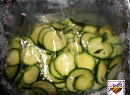 Zucchine sottozero, ricetta congelare