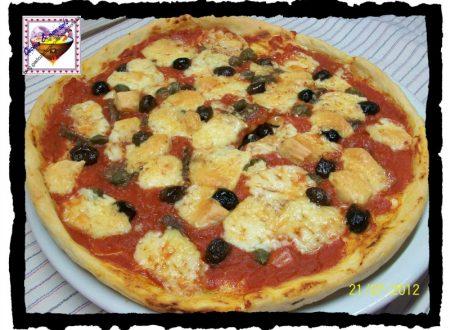 Pizza con Toma, ricetta per microonde