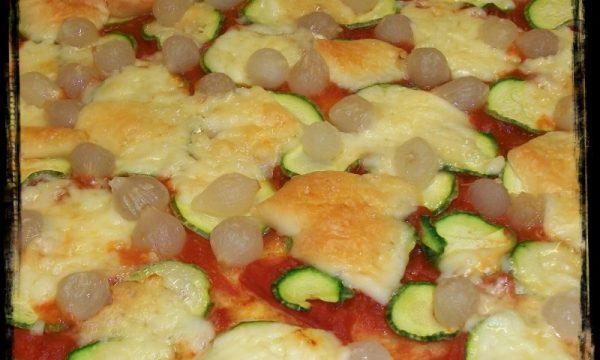 Pizza con zucchine, ricetta per microonde