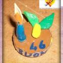 torta col pongo bricolage fata antonella