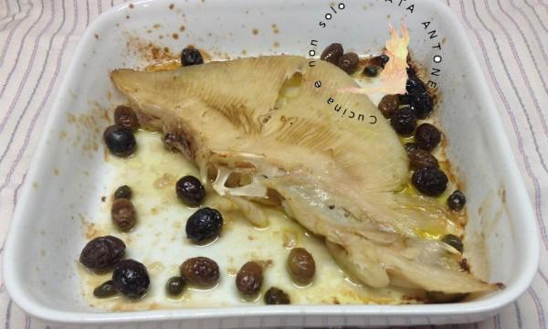 Ali di razza olive e capperi, ricetta