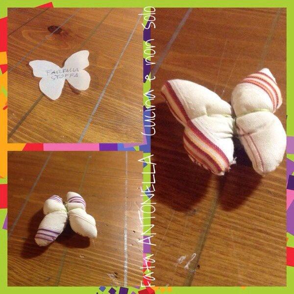 Farfalle di stoffa imbottite